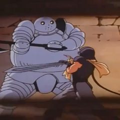 Guts getting under Bazuso's guard.