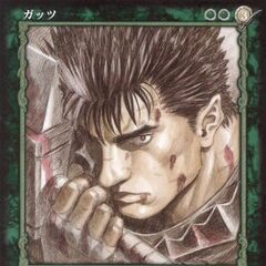 Guts holds the Dragonslayer. (<a href=