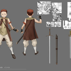 Full color concept art of Isidro.