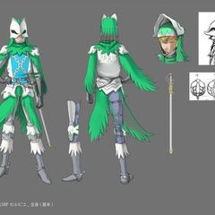 Full color concept art of Serpico in his <a href=