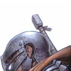 Guts dons his armor as a member of the Band of the Hawk.
