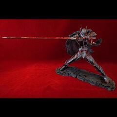 Guts in the Berserker Armor battle stance bloody variant statue released by Art of War.
