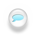 Speech balloon pearl white 3d icon blue.png