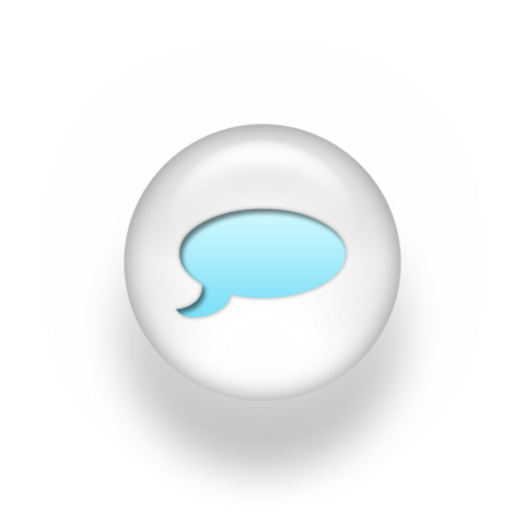 File:Speech balloon pearl white 3d icon blue.png