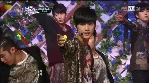 B1A4 걸어 본다(Tried To Walk by B1A4@Mcountdown 2012.11.15)