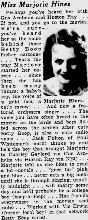 Miss Margie Hines 1934