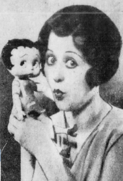 Mae Questel and Betty Boop Doll 1930's Retro
