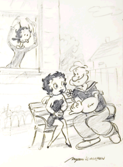 Popeye and Betty Boop Relationship