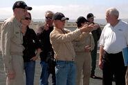 Ian Bryce scouts flight deck of USS John C. Stennis (CVN 74) for Transformers - Revenge of the Fallen 2008-09-27