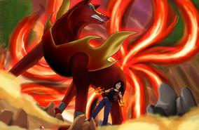 Kei and Akayu perfecting an attack