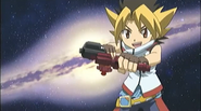 Sora holding his Launcher