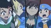 Gingka & Masamune vs Dashan & Chao Xin
