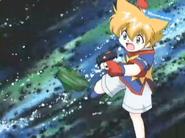 Max throwing Draciel