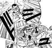 Hokuto throwing Libra