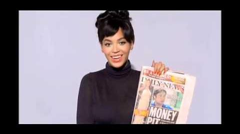 Beyonce's video response on cover of daily news about her pregnancy