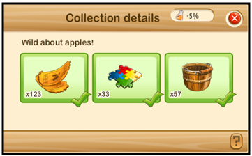 Wild about Apples colections level 1