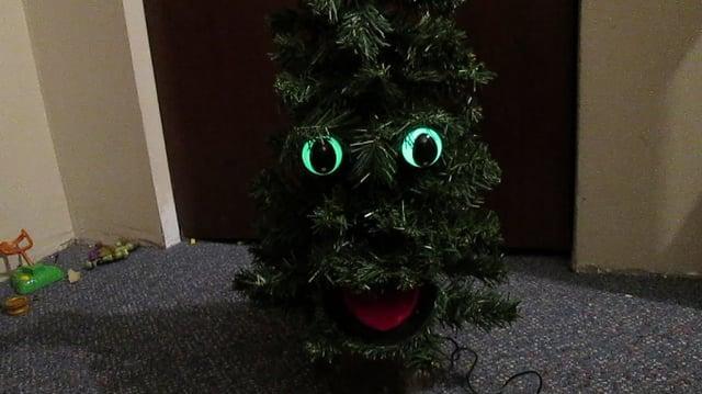 Gemmy Douglas fir the talking Tree