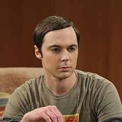 Sheldon and his cards.