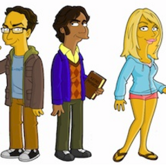 The Cast as Simpson-tons.