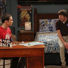 Howard helping Sheldon deal with an argument with his mother.