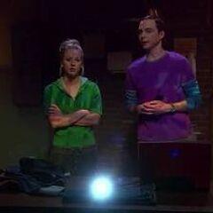 Sheldon's big presentation for Penny.