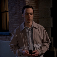 Sheldon watching Amy kissing another man.
