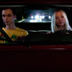Penny driving Sheldon to his date.