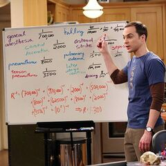 Sheldon explaining the factors that could result in Leonard dying in surgery.