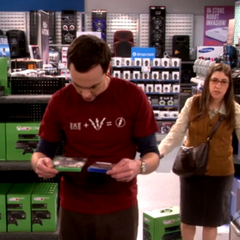Amy trying to help Sheldon out with his decision.