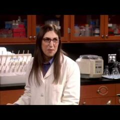 Amy in her lab.