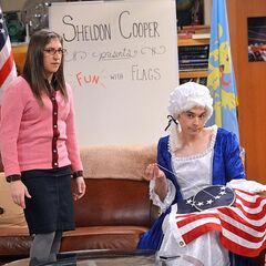 Sheldon debunking the Betsy Ross myth.