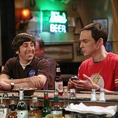 Hanging out in a Texas bar after an incident with Sheldon's mother.