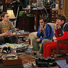 The gang playing cards.
