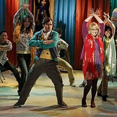 Raj's fantasy dance with Bernadette.