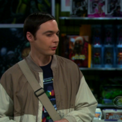 Sheldon coming to the realization that he is not fine with Amy going out with Stuart.