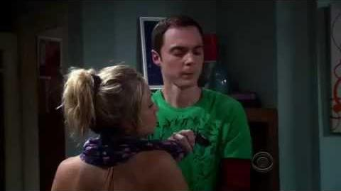 The Big Bang Theory - Sheldon touches Penny's Breast