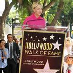 Kaley's Hollywood Blvd. star.