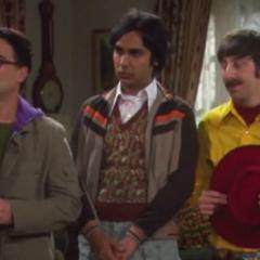 The gang came for Sheldon.