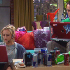Sheldon trying to get Penny a man online.