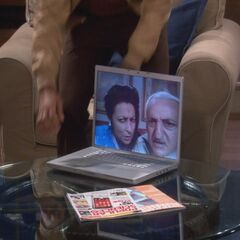 Raj's parents Skyping with Raj.