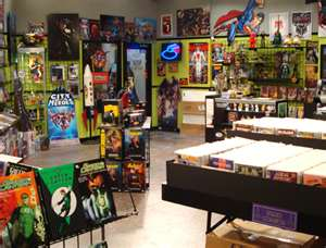 The comic center of pasadena the big bang theory wiki for Decoracion piso big bang theory