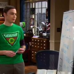 Sheldon working on Quantum Physics on his white board.