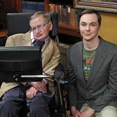 Stephen Hawking and Jim Parsons.