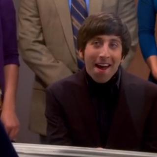 Howard doing his song for Bernadette.