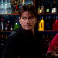 Raj spots Charlie Sheen at the Cheesecake Factory bar.