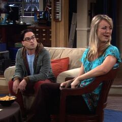 Penny reacting to Sheldon.