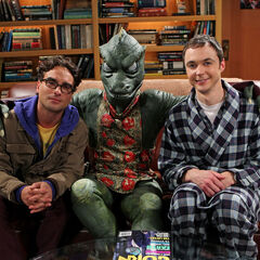 Leonard, Sheldon and his nightmare Gorn.