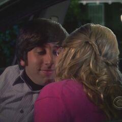 Kissing.