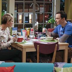 Sheldon taking the intimacy test with Penny.