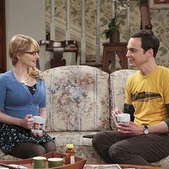 Sheldon talking over his roommate problems with Bernie.